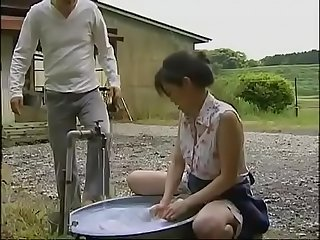 japanese mature housewife cheats with wild man in the warehouse