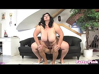 Bbw masturbating before doggystyle fucking