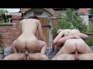Teen foursome group sex party - Camera 1 - XCZECH.com