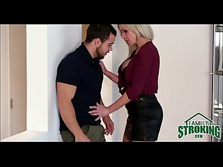 Horny MILF Nina Ella Seduces Her Step Son