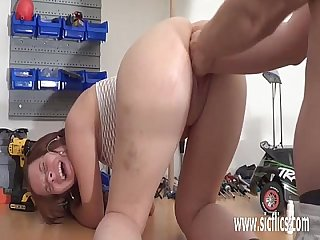 Teen slut brutal punch fisting penetration