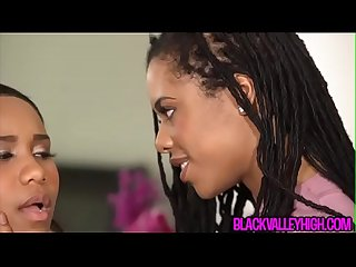 Ebony girlfriend wants more then a little mouthful of black teen bff