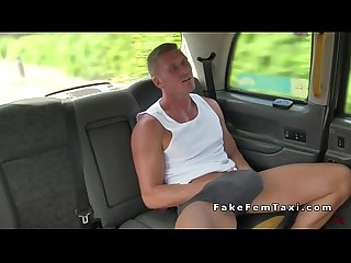 Female cab driver bangs big cock outdoor