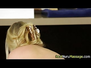 Nuru masseuse spunked