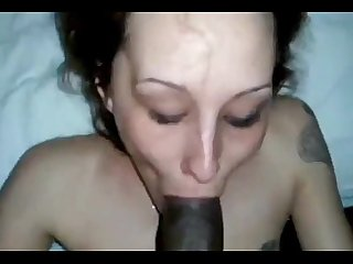 White girl knows how to deepthroat 10inches