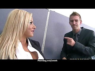 Hottest office fuck with busty chick 12