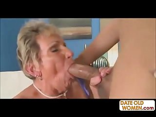 This Old granny take huge cock