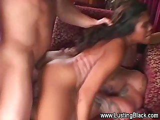 Ebony slut gets twice The fucking at once