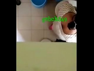 1223 Desi Aunty striping in bathroom hiddenly captured