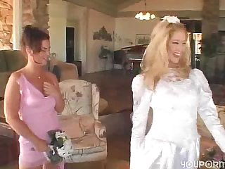 Www dearsx com bride groom and maid of honor join for some sex