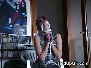 Teen GFs Get Tied Up!