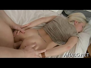 Lewd anal pounding for adorable babe
