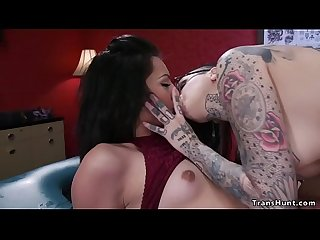 Big cock shemale fucks tattoo artist