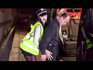 Halloween Fuck with british babe jasmine jae dressed as police woman