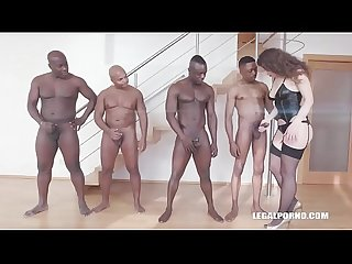 Big booty bitch sofya curly gets her ass destroyed by 4 black bulls