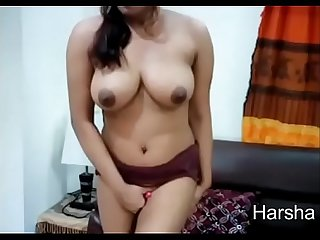 Beautiful Desi big boobs masturbation show