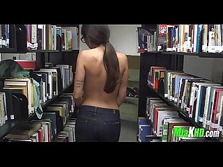 Mia khalifa plays in the library 4 92