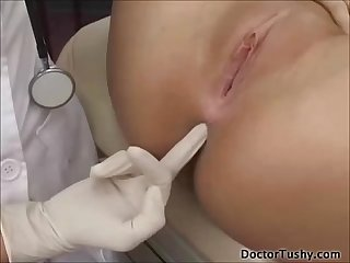 Amber rayne checks her patient
