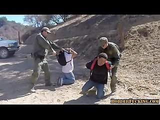 Hot brunette mexican girl gets caught and fucked by border patrol 4 1
