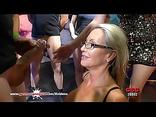 Mature Emma starr first gangbang in bukkake arena german goo girls