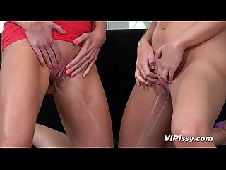 Intimate piss play for horny czech lesbians