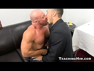 Mature hunk casey williams gets head in A church