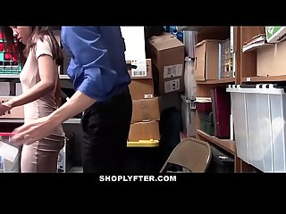 Shoplyfter stripped and fucked for stealing