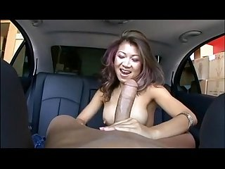 Asian Girl Reverse Cock In Car POV