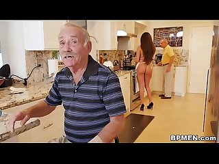 Teen Jeleana Marie Sucks and Fucks Old Men