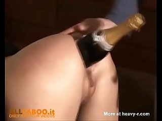 Bottle in ass