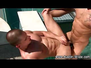 Nasty hot muscley pornstar Austin wilde