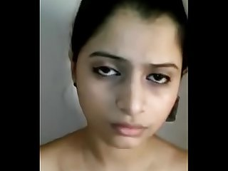 Hot n Sexy Paki Girlfriend Standing Topless in White Salwar wid Audio hawtvideos.tk