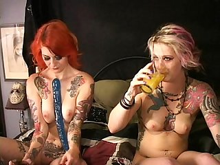 Two tattooed cuties fuck squirt w frankenstein S monstercock longest Upload