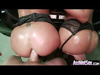 Slut girl jada sheena with big ass get oiled and anal banged mov 14