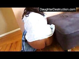 Daughters violently hatefucked