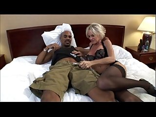 Mature milf taking a big Black cock in Hot Mom porn Video