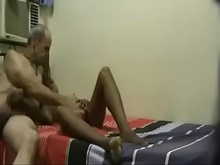 Horny old tutor hard fucking a young student when wife not in home