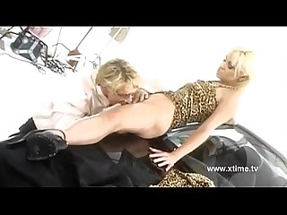 Hot blonde fucked on the hood of the car
