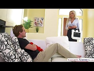 Big tits blonde MILF Nina Elle takes command - Naughty America