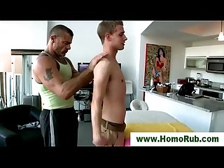 Straight guy gay masseuse oil massage