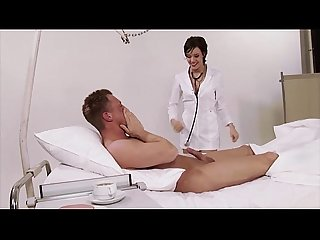 German, nurse, uniform, hospital, big natural tits, brunette,..