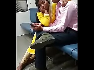 Mumbai Couple Kissing In Train