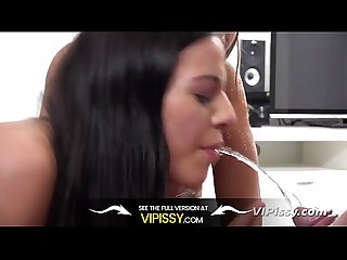 VIPissy - Hot girls get piss drenched while fucking in threesome