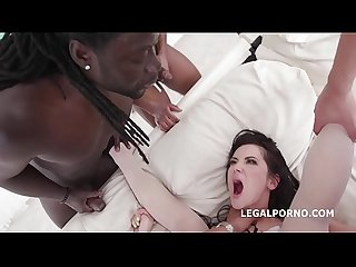 Skilled Nympho Angie Moon Fucks 5 BBC with Balls Deep Anal & Butt Rose surprise