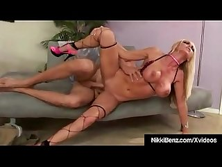 Busty Blonde Vixen Nikki Benz Is Pounded By A Big Hard Cock!