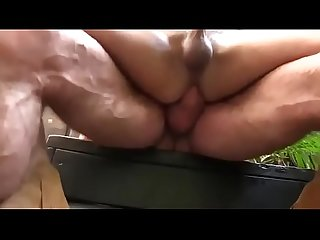 Big dad bareback twink outdoor