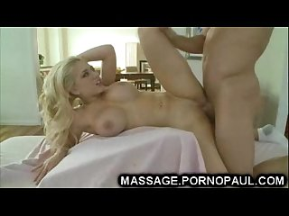 Busty blonde babe gets facial