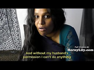 Bored Indian Housewife begs for threesome in Hindi with Eng subtitles