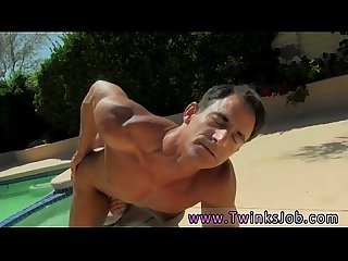 Fucking sexual gay boys Daddy Poolside Prick Loving