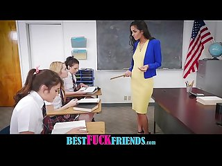 After School Detention Lesbian Foursome